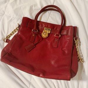 Beautiful dark red Michael Kors shoulder bag